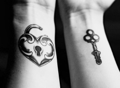 couple-tattoo-Matching-Lock-_-Key-Tattoos_large