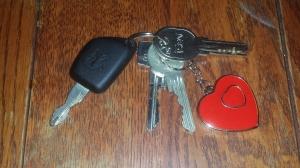 Eindelijk een autosleutel aan mijn sleutelbos!